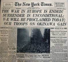 WWII Ends in Europe NY Times