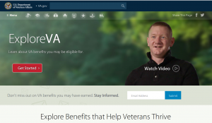 explore veterans affairs benefits website